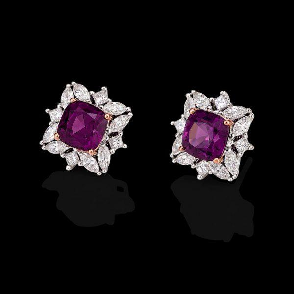 Amaranthine Flower Earrings