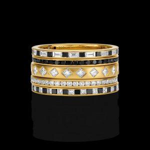 Bensley Stripes Ring Set