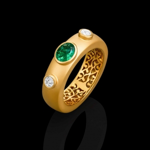 Emerald Vines Ring