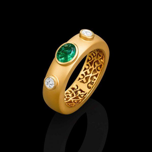 Emerald Vines Ring