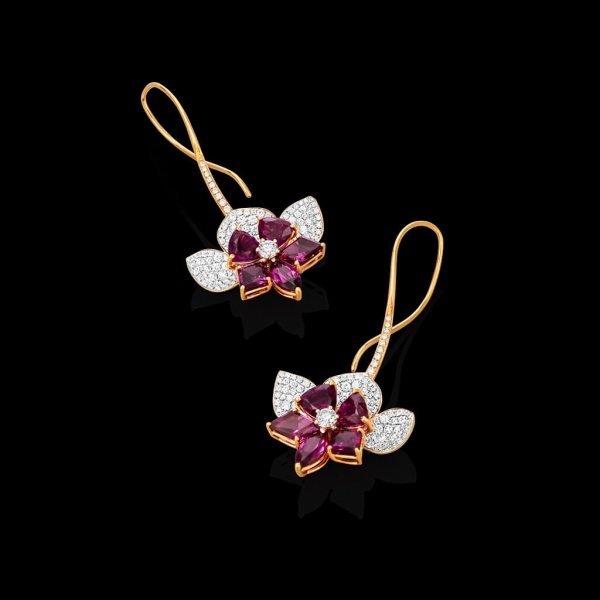 Orchid Earrings