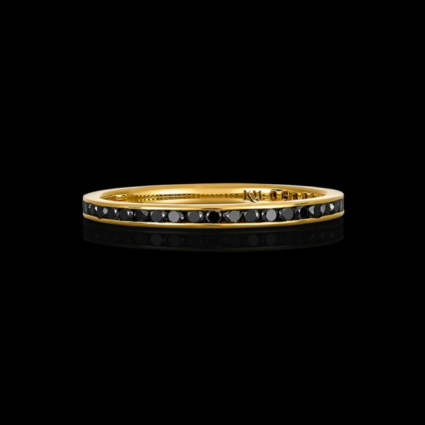 Bensley Stacking Ring - Black Diamond