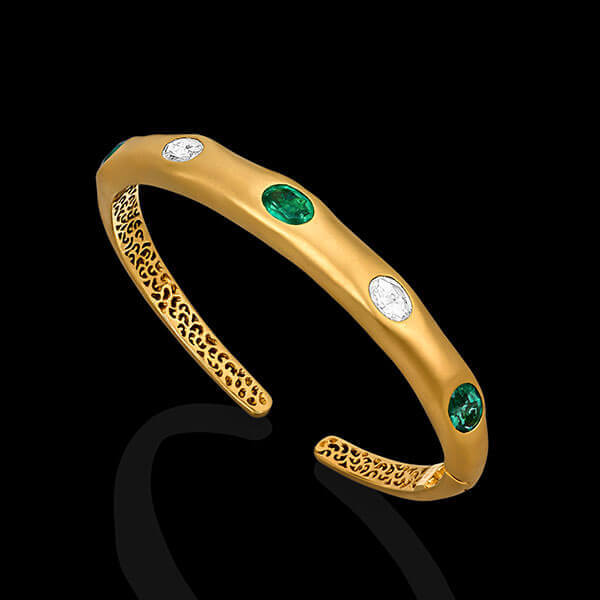 Emerald Vines Cuff